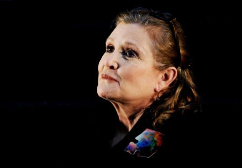 June 2013: Carrie Fisher at the Supanova Pop Culture Expo at Homebush in Sydney, Australia.