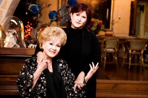 November 2010:  Carrie Fisher and her mother Debbie Reynolds in Beverly Hills. Photograph: Kevin Scanlon/The New York Times