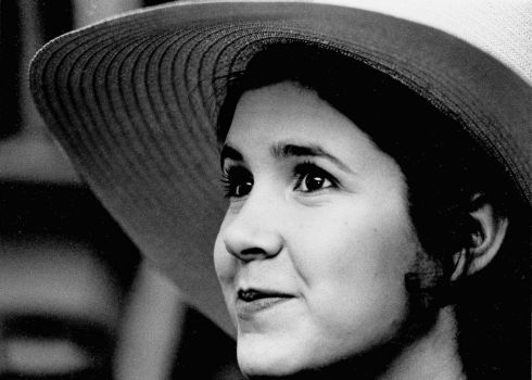 May, 1973: Carrie Fisher, the then 16-year-old daughter of Debbie Reynolds and Eddie Fisher, in New York.  Photograph: Jerry Mosey
