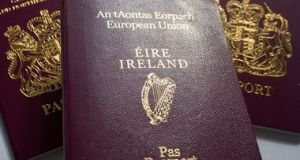 Applications for Irish passports made to missions in the US were up slightly this year. File photograph: Getty Images