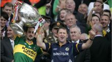 Paul Galvin with then Kerry manager Jack O'Connor after winning the All-Ireland football final in 2009. Photograph: Dara Mac Dónaill.
