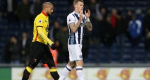 James McClean has signed a new deal with West Bromwich Albion. Photograph: Adam Fragley/Getty