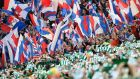 Celtic can extend their lead in the SPFL to 19 points with victory over Rangers at Ibrox on New Year's Eve. Photograph: Jeff J Mitchell/Getty Images