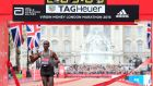 Kenya's Eliud Kipchoge winning the London marathon  in 2016. Kipchoge will  be part of Nike's Breaking2 project. Photograph: Jonathan Brady/PA Wire.