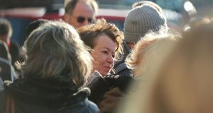 Anthony Cronin's wife Anne Haverty at his funeral on December 31st. Photograph: Nick Bradshaw