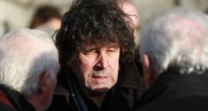 Actor Stephen Rea at the funeral Anthony Cronin. Photograph: Nick Bradshaw