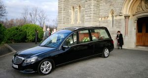 The funeral of Anthony Cronin at the Church of the Sacred Heart in Donnybrook. Photograph: Nick Bradshaw