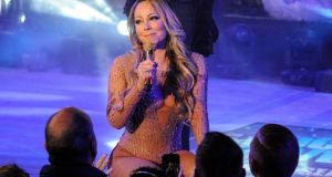 Mariah Carey performs during a concert in Times Square on New Year's Eve. Photograph: Reuters