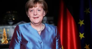German chancellor Angela Merkel: Most Germans say she is their best bet to lead them into an uncertain future. Photograph: Markus Schreiber/Reuters