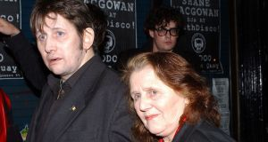 Singer Shane MacGowan  with his mother Therese in 2003. Photograph: ShowBizIreland.com/Getty Images