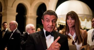 Sylvester Stallone at Donald Trump's New Year's Eve party at the Mar-a-Lago resort in Palm Beach, Florida. Photograph: Hilary Swift/The New York Times