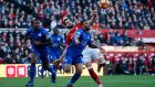 Danny Simpson challenges  Alvaro Negredo during Leicester's stalemate at Middlesbrough. Photograph: Reuters/Craig Brough