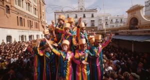 "Cádiz's ""carnaval""  is known for its concerts, cultural events, flamboyant costumes and general revelry. Photograph: Vittoriano Rastelli/Corbis via Getty Images"