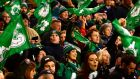 Irish fans celebrate  Ireland's 35-25 Six Nations win over Scotland in Dublin last March. Photograph: Cyril Byrne