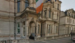 The Irish Embassy in London. Documents from the embassy detail the surge of requests it received for Irish passports in the run-up to and after the Brexit vote. Photograph: Google Street View