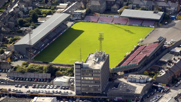Dalymount Park in Phibsborough will be demolished and a new all-seater stadium will be built on the site. Photograph: Pat Murphy/Sportsfile