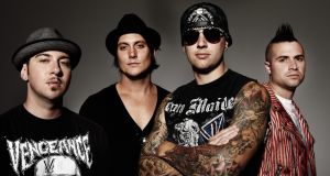 Zacky Vengeance, Synyster Gates, M. Shadows and Johnny Christ of Avenged Sevenfold