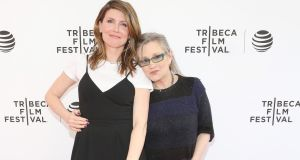 'I want everyone to remember her and all the great things she was.' Sharon Horgan with Carrie Fisher in  April 2016 in New York City. Photograph: Robin Marchant/Getty Images