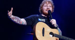 Ed Sheeran: Could this be his year? Photograph: Phil Walter/Getty Images