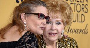 Actors Carrie Fisher and her mother Debbie Reynolds, who died within 24 hours   of each other after Christmas. Photograph: Paul Buck/EPA