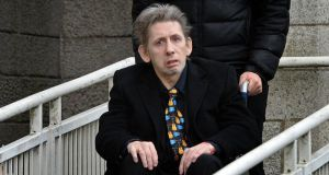 Shane MacGowan at the funeral of Frank Murray. Photograph: Eric Luke