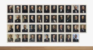 Obama '08 by Jonathan Horowitz features 43 past US presidents from George Washington to Barack Obama: one of three editions made by the artist sold at a Christie's auction in New York late last year for $223,500