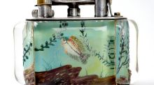 "An ""Aquarium"" cigarette lighter by British maker Alfred Dunhill sold for €4,600 at Whyte's in Molesworth Street"