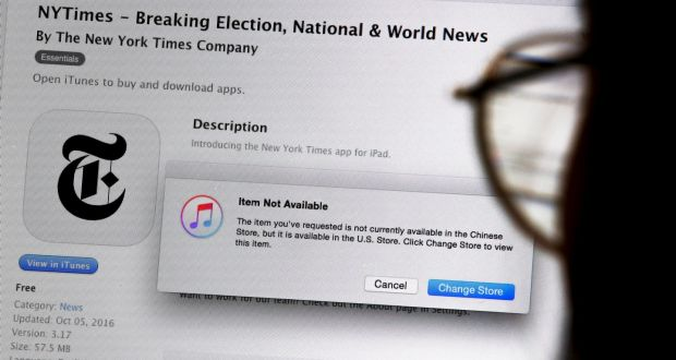 Apple pulls new york times app from itunes store in china reheart Images