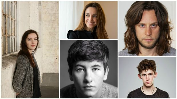 Clockwise: Ann Skelly was first spotted at an unsuccessful call for John Carney's Sing Street; Ruth Coady has produced two films to be released in 2017, Mary Shelley and The Delinquent Season; Tadhg Murphy will be playing an IRA man for Oscar-winner John Ridley in Guerrilla; Barry Keoghan's career is set to go global, having made his name in the likes of Love/Hate; Fionn O'Shea stars in Handsome Devil, which will close close the Dublin International Film Festival in February
