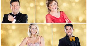 Dancing with the Stars contestants Des Cahill, Teresa Mannion, Hughie Maughan and Aoibhin Garrihy. Photographs: RTE