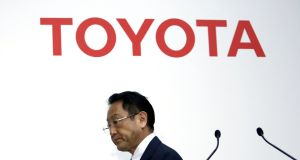 Outburst came hours after Toyota's president, Akio Toyoda, said the firm was not planning to reconsider Mexico move