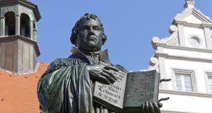 Martin Luther statue in Wittenberg, Germany:  what he intended as the beginning of a theological dialogue in 1517 set in train events that have shaped the world  today. Photograph: iStock