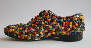 Declan Byrne's Encrusted Shoe, mixed media