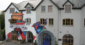 7. The Kcat Art & Study Centre, with the three-storey mural created by Sinéad Fahey