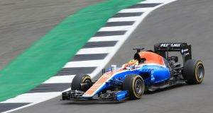 Manor Formula One team's Rio Haryanto  at Silverstone last year. The team is still seeking investment but running out of time before the start of the season. Photograph: Nigel French/PA Wire