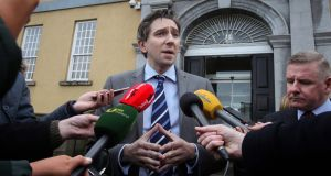Simon Harris: the question is whether he  wants to stay in Health for invevitable  battles, or escape as others have in the past. Photograph: Gareth Chaney/Collins