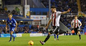 Brentford's Scott Hogan looks set for a Premier League switch during the January window. Photograph: Getty/Nathan Stirk