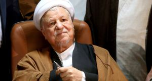 Former Iranian president Akbar Hashemi Rafsanjani, died at a hospital in north Tehran on Sunday, according to the local news agencies. Photograph: Ebrahim Noroozi/AP