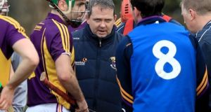 Davy Fitzgerald's first game in charge of Wexford saw them thrash UCD at Gorey. Photograph: Inpho/Donall Farmer