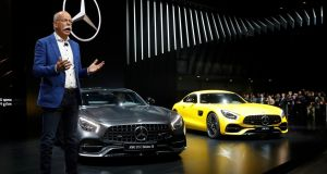 Daimler chairman Dieter Zetsche speaking at  the North American International Auto Show in Detroit. Its Mercedes-Benz brand has taken the lead in the luxury segment.