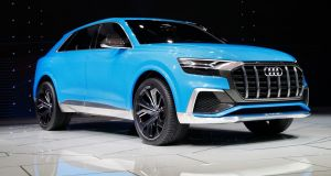 The new Audi Q8 will make its debut in early 2018, with prices in Ireland expected to start from €90,000