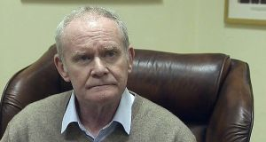 "Northern Ireland's former deputy first minister Martin McGuinness. ""His actions have meant that, at precisely the time we need our government to be active, we will have no government,"" said outgoing First Minister Arlene Foster."
