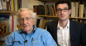 Noam Chomsky with presenter  Ian Kehoe in RTE One's The Great Irish Sell Off. Photograph: RTE