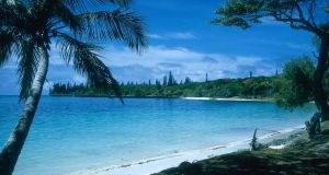 The Isle of Pines in the south Pacific.