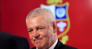 Warren Gatland leads the Lions tour of New Zealand this summer. The final test takes place on July 8th. Photograph: Inpho