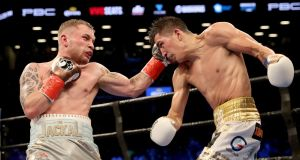 Carl Frampton will be  in action against Leo Santa Cruz again at the end of January. Photograph: William Cherry/Inpho