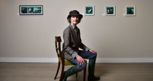 Lady Dufferin pictured with some of her artwork at the  gallery on the Clandeboye Estate. Photograph: Charles McQuillan/Pacemaker
