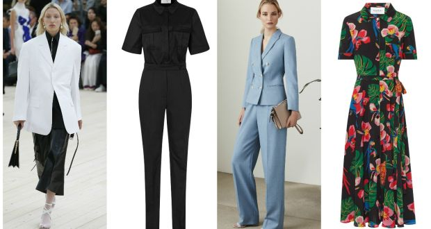 88d6ddfe8f7b From left: Celine white blazer, €1,700 at Brown Thomas; Reiss black jumpsuit