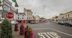 Ballaghaderreen's Market Square: For more than three decades the town has had a significant Muslim population. Photograph: Brenda Fitzsimons