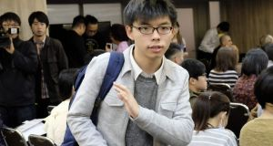 Hong Kong politician Joshua Wong: says an assault on him and fellow rights activist Nathan Law at Hong Kong's airport was a co-ordinated attack by pro-Beijing elements. Photograph: Sam Yeh/AFP/Getty